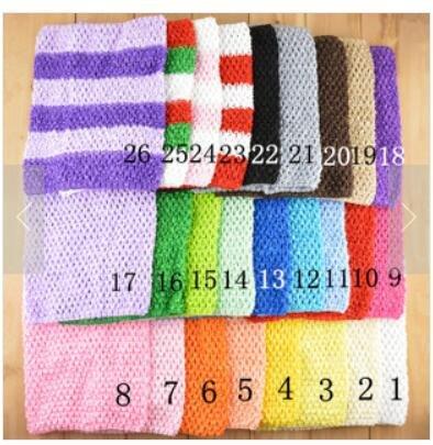 Generic bianco: 1PC invia 20x 23cm tulle spool tutu crochet petto Wrap Tube tops abbigliamento cucito tessuto a maglia ragazza regali di compleanno 33colori a scelta As shown in Image