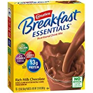 Carnation Breakfast Essentials Powder Drink Mix, Rich Milk Chocolate, 10 Count Box of 1.26 Ounce Packets (Pack of 6) (Packaging May Vary)