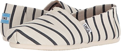 TOMS Womens Venice Casual Lifestyle Shoe, White/Navy, 6 B(M) US