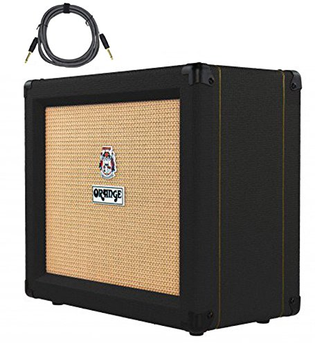 Orange Crush 35RT Black 1x10'' 35-Watt Combo w/ Reverb & Tuner Free Cable Bundle by Orange