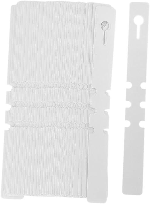100 unidades. Pegatinas de PVC para jardín, etiquetas para plantas, colgantes, adhesivas (blanco): Amazon.es: Jardín