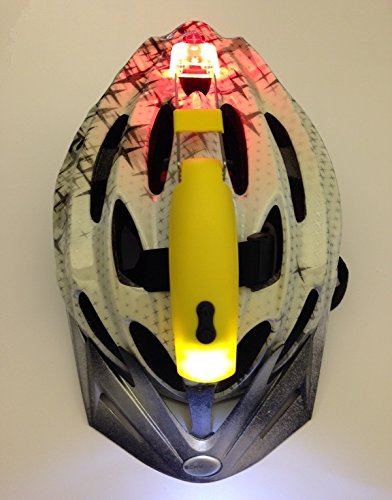 2 counts Easy to Use LED Helmet Light (1 yellow and 1 gray)