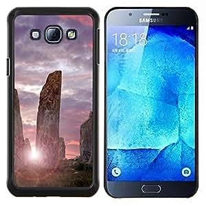 EJOOY---Cubierta de la caja de protección para la piel dura ** Samsung Galaxy A8 A8000 ** --Arquitectura antiguas piedras de Sunrise