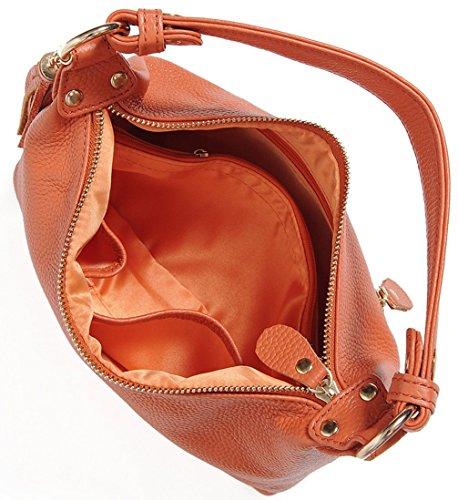 Keshi Leder neuer Stil Damen Handtaschen, Hobo-Bags, Schultertaschen, Beutel, Beuteltaschen, Trend-Bags, Velours, Veloursleder, Wildleder, Tasche Khaki