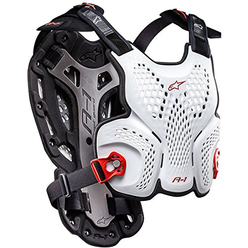 Alpinestars Men's A-1 Roost Guard (White/Black/Red, Medium/Large) by Alpinestars
