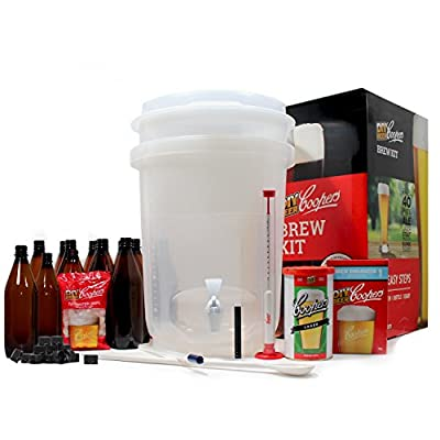 Coopers DIY Beer Home Brewing 6 Gallon All Inclusive Craft Beer Making Kit with Patented Brewing Fermenter, Beer…