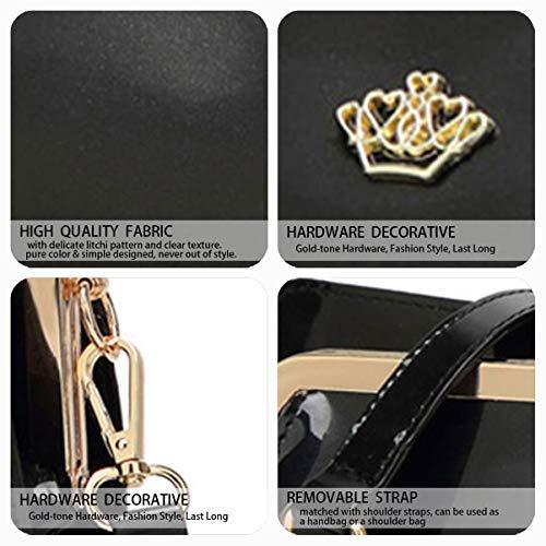 Fekete y hombro Shoppers clutches y bandolera de de DEERWORD Carteras mano Mujer Bolsos bolsos wngqXfx