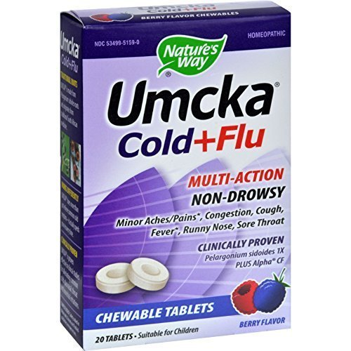 033674151594 - Nature'S Way Umcka Cold&Flu Chew Berry 20 Ct carousel main 0