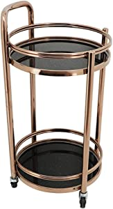 KELITINAus Mobile 2/3 Layer Stainless Steel Round Service Desk Trolley/Beverage/Wine Rack/Banquet/Tea/Snack/Dining Cart,a,a