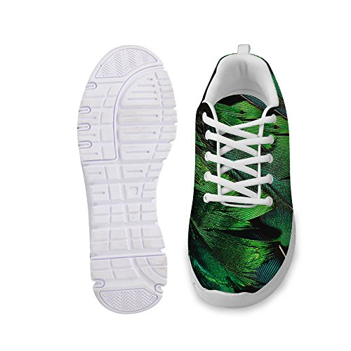 För U Designar Mode Nya Stil Unisex Flex Ljus Mesh Andas Sneaker Löparskor Grön 2
