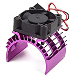 remote control brushless motor - ShareGoo Alloy heat sink Heatsink with 5V Cooling Fan for 1/10 Car 540 550 3650 Size Brushless Engine Motor,For Remote Control Car Truck Buggy Crawler(Purple)