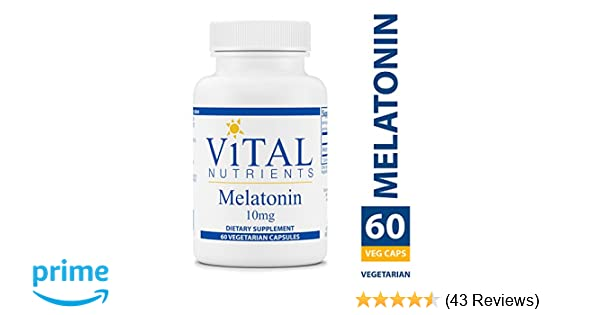 Amazon.com: Vital Nutrients - Melatonin 10 mg - Supports the Bodys Natural Sleep Cycle - 60 Capsules: Health & Personal Care