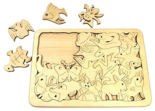 escher-mosaic-themed-toy-fantastic-creatures-wooden-puzzle-eerie-wooden-puzzle-game-20-pc-set