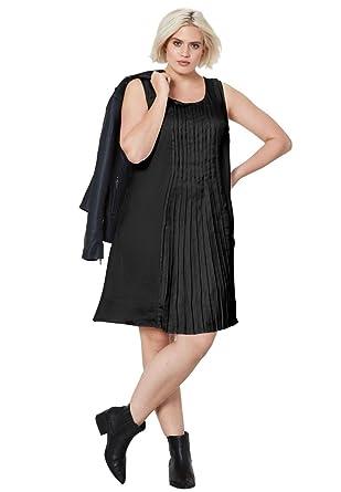 Ellos Womens Plus Size Pleated Sleeveless Dress At Amazon Womens