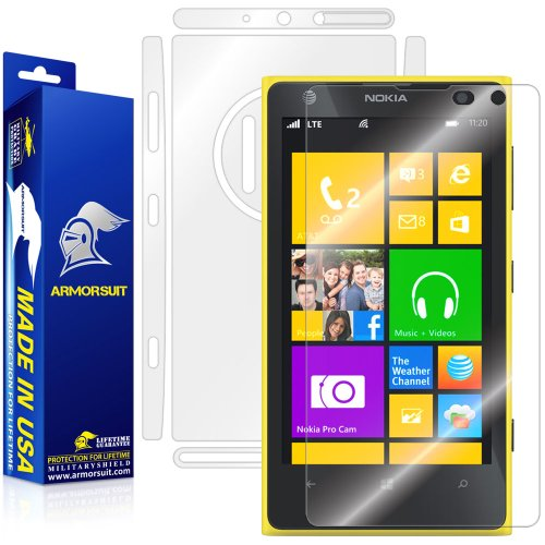 ArmorSuit MilitaryShield Full Body Skin Film + Screen Protector for Nokia Lumia 1020 - Anti-Bubble HD Clear Film (Nokia 1020 Clear Case)