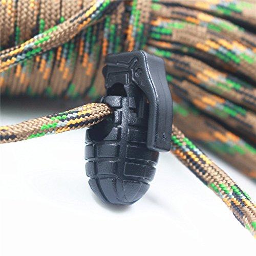 10pcs Forma de Granada, antideslizante, hebilla de balón de balón de zapatos encaje cerraduras para al aire libre Camping senderismo, Army green negro
