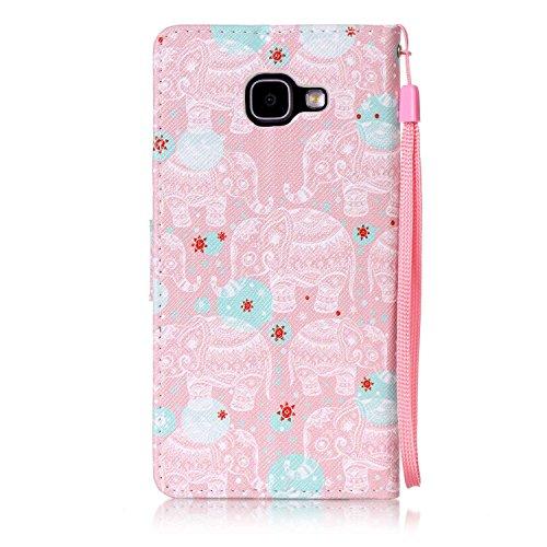 Para Smartphone Samsung Galaxy A5(6) sm-a510F (2016) móvil, piel para Samsung Galaxy A5(6) sm-a510F (2016) Flip Cover Funda Libro Con Tarjetero Función Atril magnético (+ Polvo Conector) blanco 8 8
