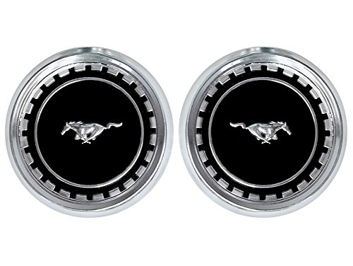 New 1969-70 Ford Mustang Boss Fastback Mach I Ornaments LH RH Running Horse Roof Pillar Emblems (C9ZZ-63517A20/1A)