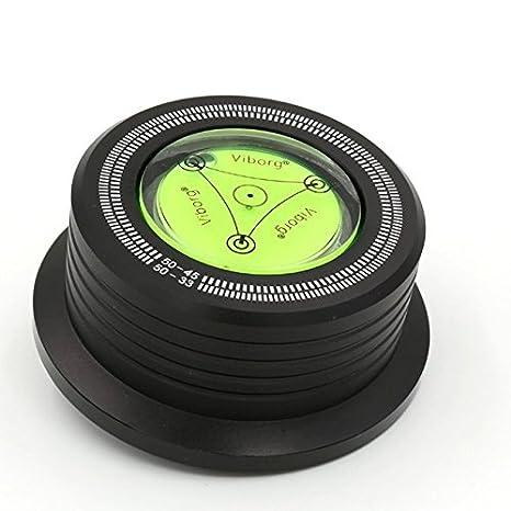 3 in 1 Clamp Estabilizador Tocadiscos Plato + Estroboscopio + Nivel vibraciones