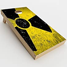 Skin Decal Vinyl Wrap for Cornhole Outdoor Board Game Bag Toss (2 x Pcs. skins only) / Bio Hazard zombie