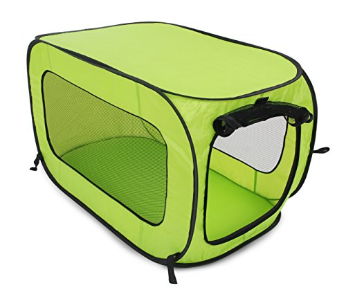 Beatrice Home Fashions SOLPPK00GRN POP UP PET Kennel, Green (Popup Dog Crate)