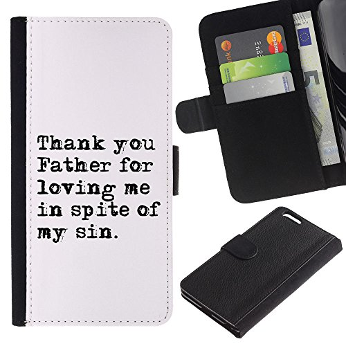 EuroCase - Apple Iphone 6 PLUS 5.5 - THAN YOU FATHER FOR LOVING ME - Cuir PU Coverture Shell Armure Coque Coq Cas Etui Housse Case Cover