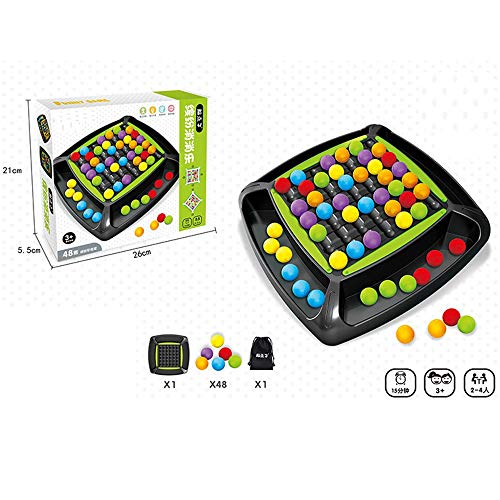 DFRY Rainbow Ball Elimination Game Puzzle Magic Chess Balls Juego Interactivo de Padres e Hijos