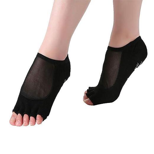 CAMORNY Calcetines de Yoga Antideslizantes Calcetines de ...