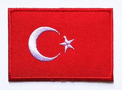 HHO Turkey Flag Patch National flag Patch Embroidered DIY Patches, Applique Sew Iron on for everyone Craft Patch for Bags Jackets Jeans Clothes Patch Jacket T-shirt Sew Iron on Costume (Turkey Costume Diy)