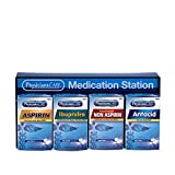 PhysiciansCare by First Aid Only 90780 Medication Station with 4 Medications, 400 Pieces