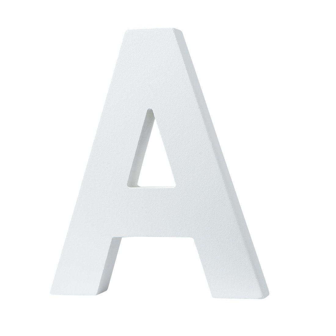 5.9(L)*4.9(H)*0.8(W)/15 * 12.5 * 2cm Large Wall Letters Marquee Alphabet G Wood Wooden Number DIY Block Words Sign Hanging Decor Letter for Home Bedroom Office Wedding Party Decor White Zebery Zebery001