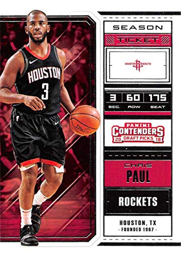 2018-19 Panini Contenders Draft Picks Basketball Season Ticket Variation #9 Chris Paul Houston Rockets Official NBA Trading Card