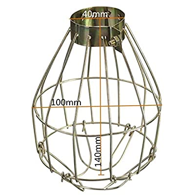 Etbotu Metal Lamp Bulb Guard Clamp Vintage Light Cage Hanging Industrial Lamp Covers Pendant Decor for Home Bar