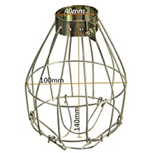 Zehui Hanging Industrial Lamp Covers Pendant Decor for Home Bar Metal Lamp Bulb Guard Clamp Vintage Light Cage