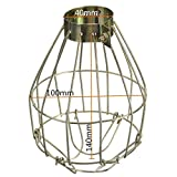 Leoie Metal Lamp Bulb Guard Clamp Vintage Light Cage Hanging Industrial Lamp Covers Pendant Decor for Home Bar
