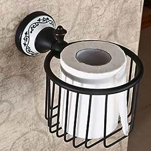 Hiendure lat n montado en la pared portarrollos para for Accesorios bano bronce
