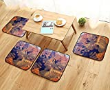 Leighhome Comfortable Chair Cushions Epic South West Canyon Before Sunrise Tribal Ethnic National Landmark Wilderness Brown Reuse can be Cleaned W17.5 x L17.5/4PCS Set