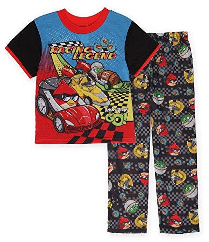 """Angry Birds Go! """"Racing Legend"""" 2-Piece Pajamas - red/blue, 4"""