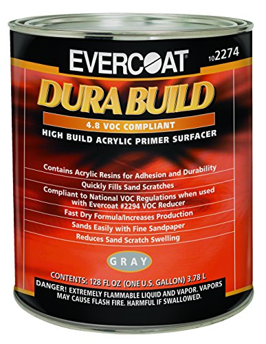 - Evercoat 2274 Dura Build Acrylic Primer Surfacer - Gray - Gallon