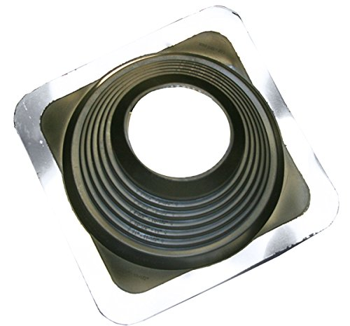 EPDM Black Pipe Flashings Square Base #7, Pipe Range 5-1/2