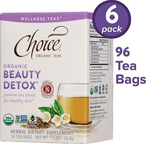 - Choice Organic Teas Wellness Teas, 6 Boxes of 16 (96 Tea Bags), Beauty Detox
