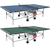 """Butterfly Playback 19 Table Tennis Table - 3/4"""" Ping Pong Table Top - Folding Ping Pong Table with Wheels - Ping Pong Paddle and Balls Holder - Free Ping Pong Net"""