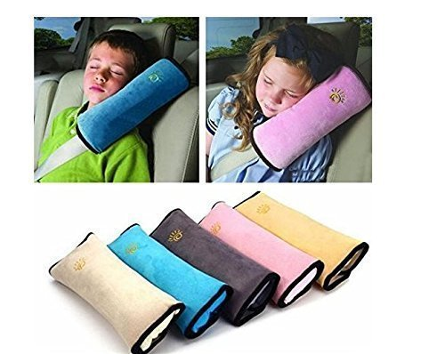 UChic 1PCS Children//Child Car Soft Headrest Baby Vehicle Safety Seat Belts Pillows Strap Soft Shoulder Pad Cushion Neck Seatbelt for Baby Children Color Random