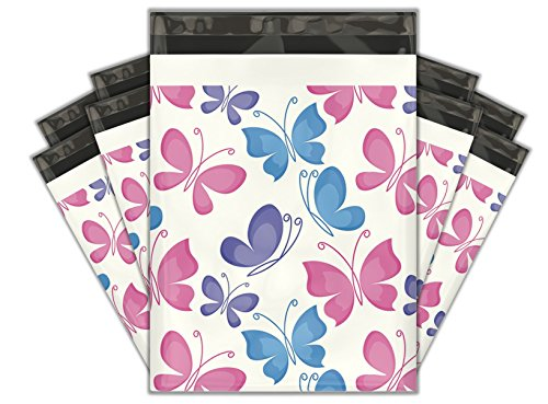 10x13 (100) Butterfly Designer Poly Mailers Shipping Envelopes Premium Printed Bags