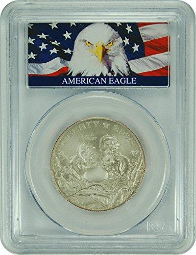 2008 S Commemorative Bald Eagle Label (1/2) MS-70 PCGS
