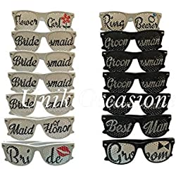 Unik Occasions Bridal Party Wedding Party Sunglasses Sets (UO-SUN-SET23)