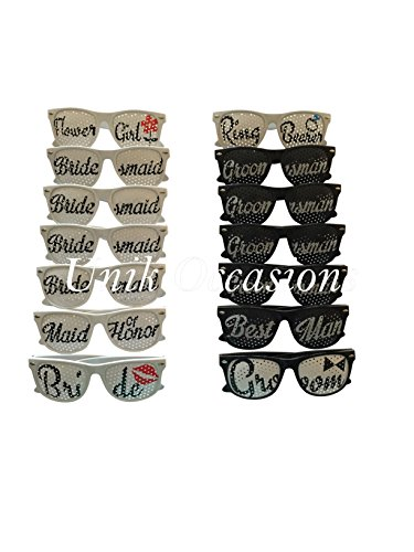 Unik Occasions Bridal Party Wedding Party Sunglasses Sets...