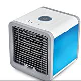 JiaQi Mini Air Conditioning,Desktop Air Conditioner,3 In 1 Usb Portable Desktop Office Home Cooling Personal Space-White 18x18x20cm(7x7x8inch)