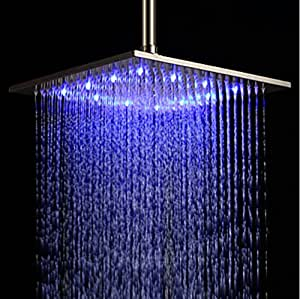 Rozin 174 12 Inch Led Color Bathroom Square Shower Head