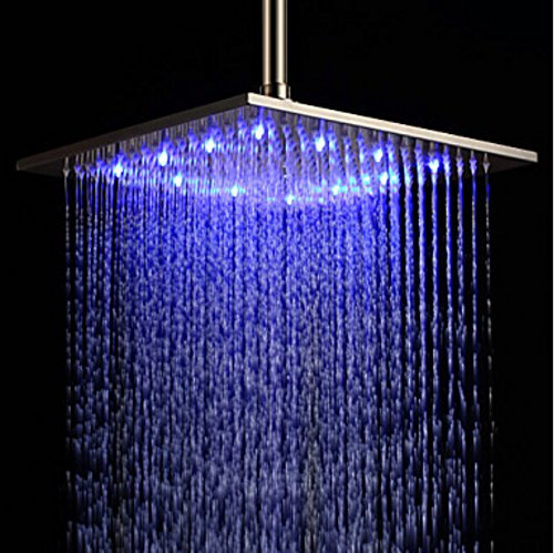 16inches brushed nickel LED shower head - 6
